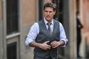 """Tom Cruise sur le tournage de """"Mission Impossible 7"""" en octobre 2020."""