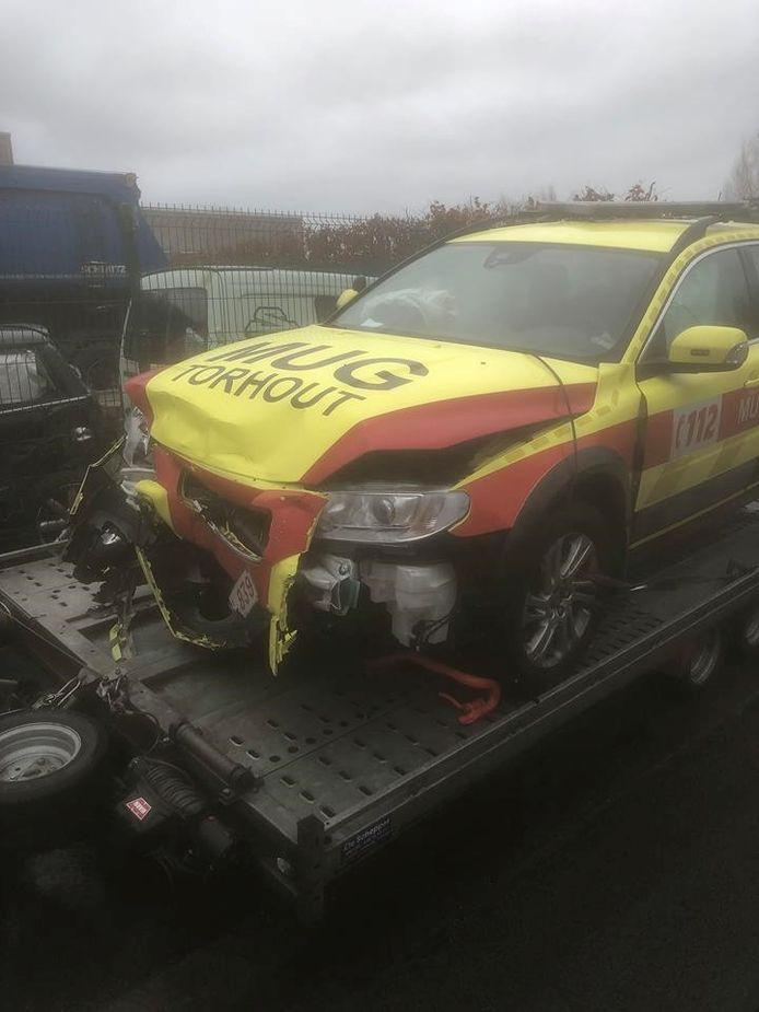 Het MUG-voertuig raakte zwaar beschadigd.