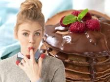 Groentegoeroe Estée ontbijt liefst met pannenkoeken en chocola