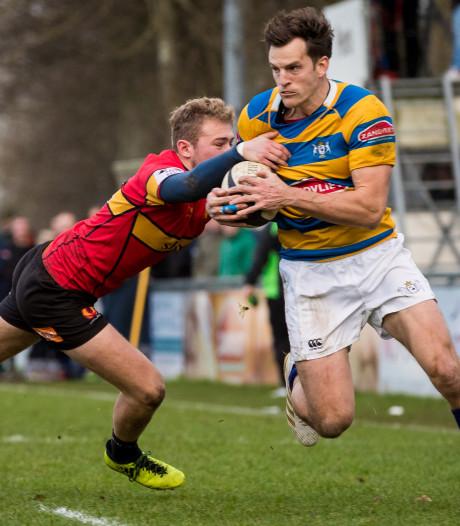 Dordtenaar Pieter Mol (HRC) kan het rugby nog niet missen