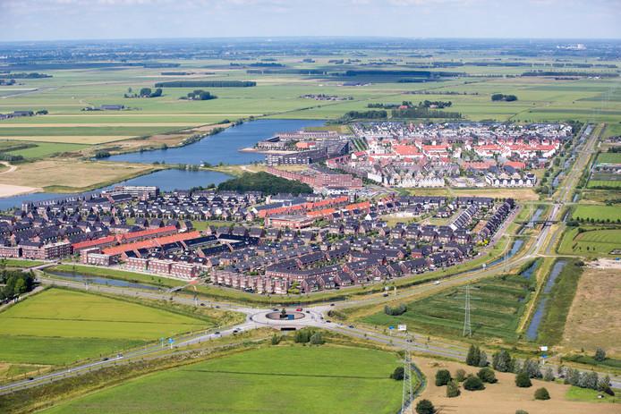 Overzicht van de wijk Groote Wielen in Rosmalen.