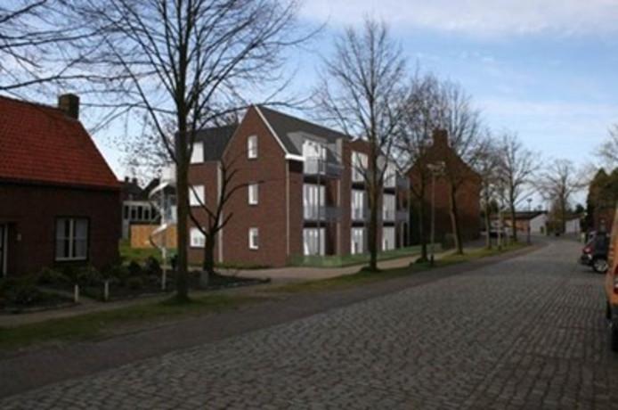 Impressie van appartementencomplex Re-Bus aan de Brugstraat