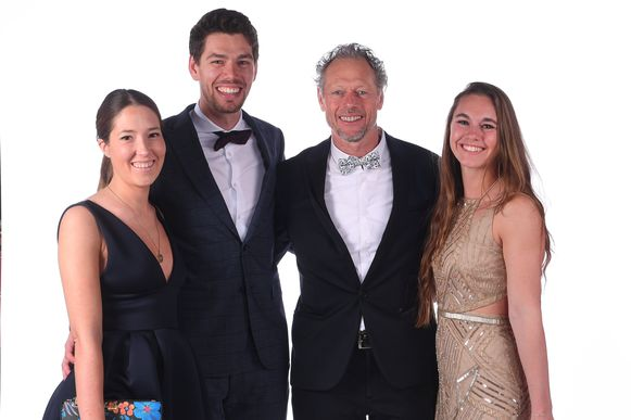 Delphine, Guillian, Michel en Megan Preud'homme.