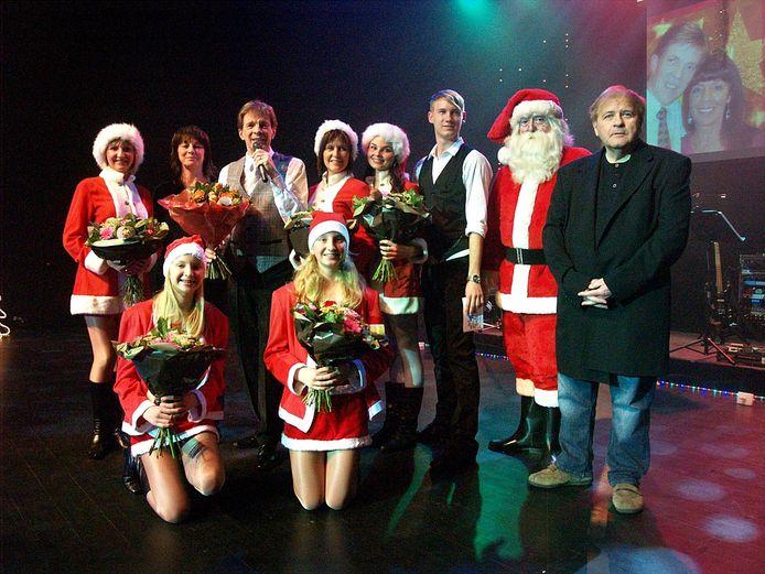 Erik Lemmens (rechts) met Paul Severs in De Plomblom in Ninove tijdens zijn voorlaatste kerstshow, in 2013.