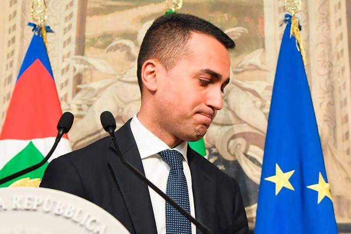 Luigi Di Maio, de politieke leider van de Vijfsterrenbeweging.