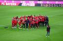 Bayern München viert de negende titel op rij.