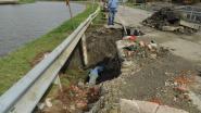Waterleidingbreuk zet straat blank