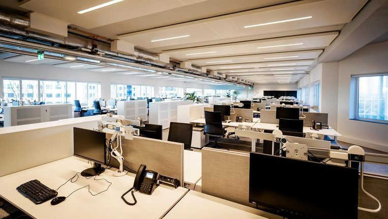 Lege bureaus op de Zuidas, binnenkort gebruikt door EMA-medewerkers Beeld ANP