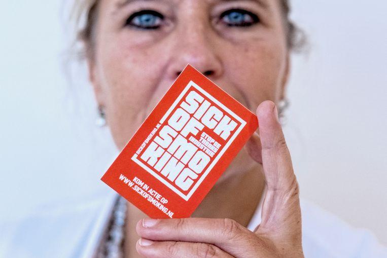 Wanda de Kanter, longarts in het Antoni van Leeuwenhoek Ziekenhuis, maar nu activist tegen de tabaksindustrie. Beeld Patrick Post