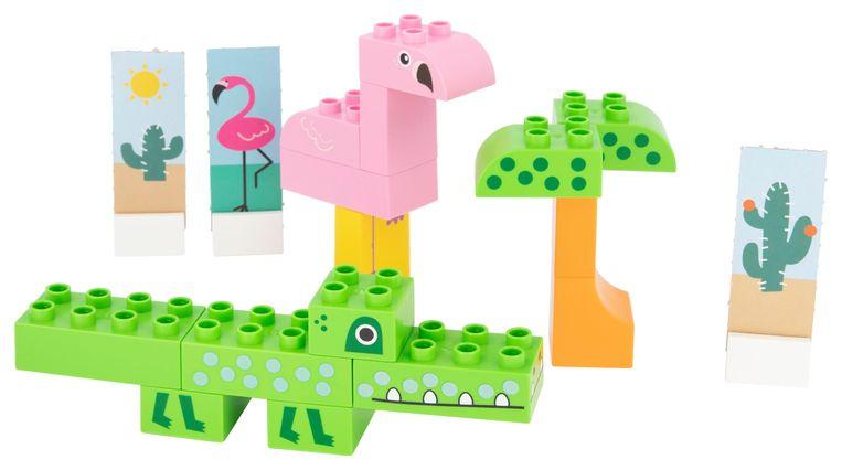 Speelgoedset Safari van de Hema, gemaakt van bioplastic. Beeld