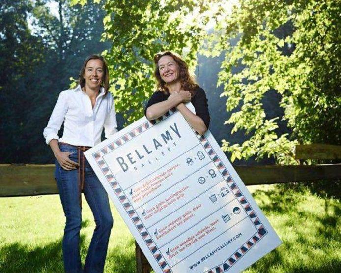 Imke Bens en Mireille van der Sprong van Bellamy Gallery.