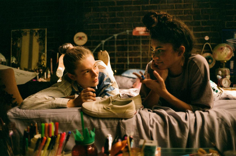 Jules Vaughn (Hunter Schafer) en Rue Bennett (Zendaya) in de tweede 'Euphoria'-special. Beeld Streamz