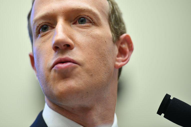 Mark Zuckerberg Beeld AFP