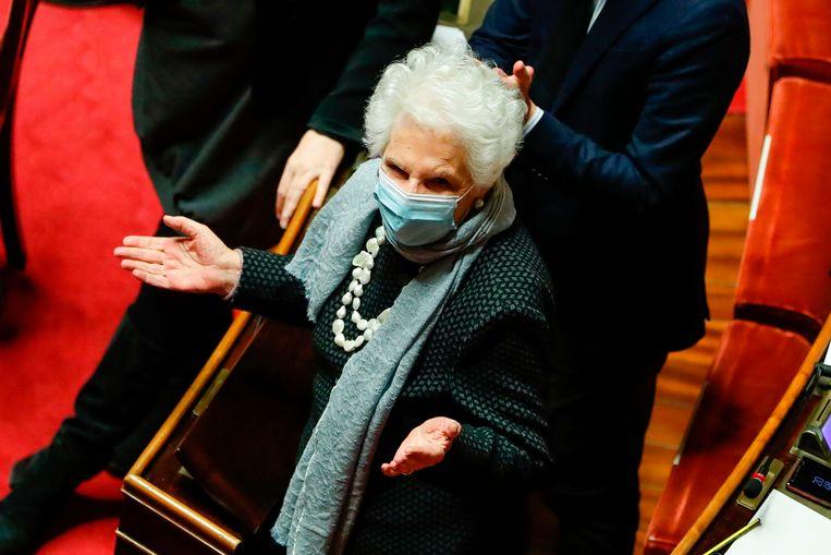Liliana Segre werd in 2018 tot senator voor het leven benoemd. Beeld AFP