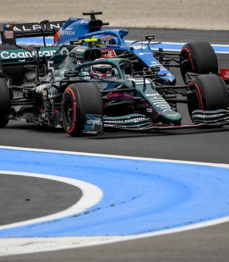 Vettel voor straf drie plaatsen naar achteren gezet na hinderen Alonso