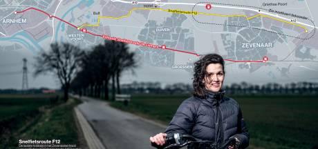 Mireille zoeft dagelijks over het snelfietspad: met hindernissen over de F12