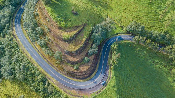 Illustration - Une route au Costa Rica.