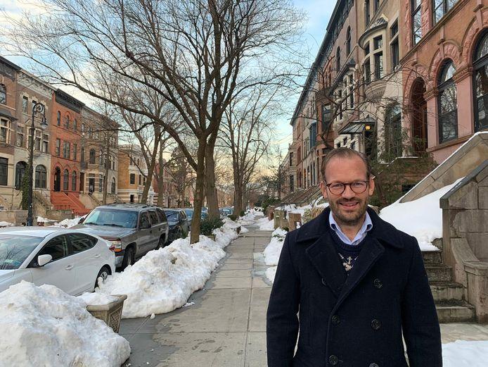 Dirk-Jan Omtzigt in Brooklyn, New York, het stadsdeel waar hij met zijn gezin woont.