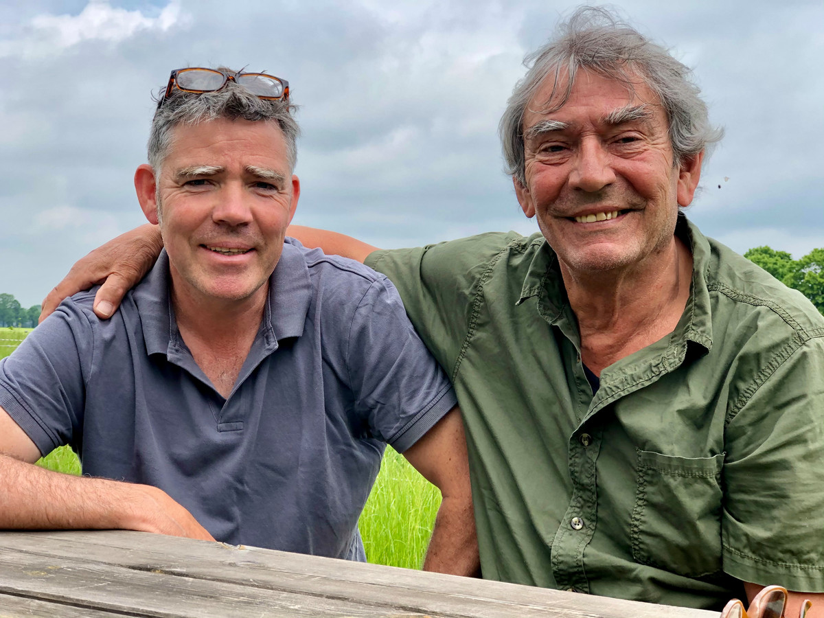 Onno & Frank Witte op de boerenbuiten.