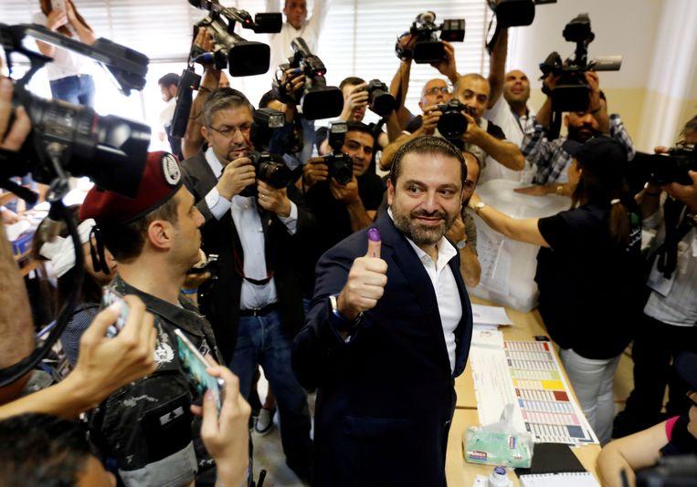 De Libanese premier Saad al-Hariri mag wellicht zichzelf opvolgen.