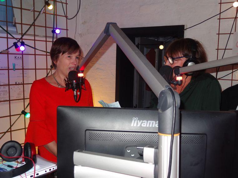 Catherine De Bolle bij radio Savooi.