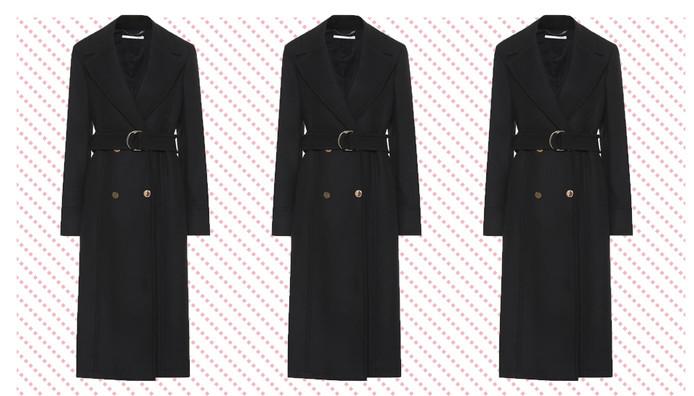 Le manteau de Stella McCartney porté par Meghan Markle. Prix: 1.695 euros.