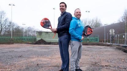 """Tennisclub investeert in drie padelterreinen: """"We willen mee zijn met nieuwe hype"""""""