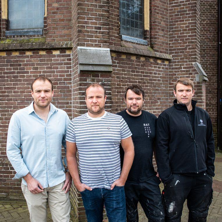 De vier broers Jeroen, Joep, Jorrit en Jasper van Deijnen. Beeld Simon Lenskens