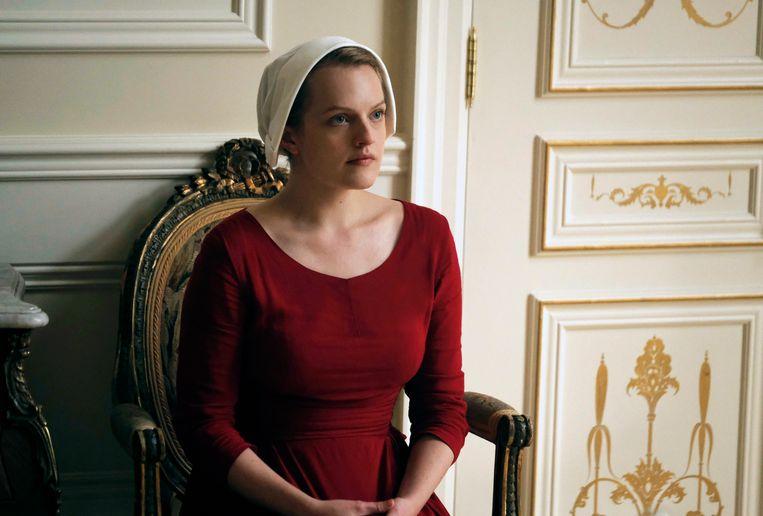 Elisabeth Moss in 'The Handmaid's Tale'. Beeld AP