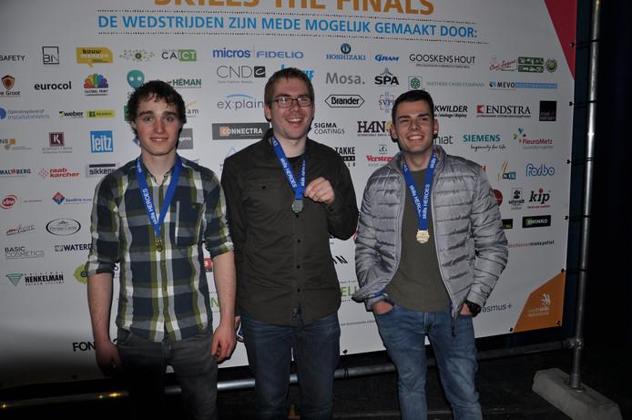 Leerlingen van het Udense ROC behaalden goud, zilver en brons.