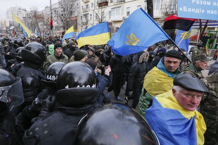 Demonstratie op het Maidanplein in Kiev Beeld epa