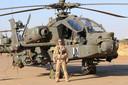 Peter Gordijn is een Apachepiloot die vorig jaar nog in Mali was.
