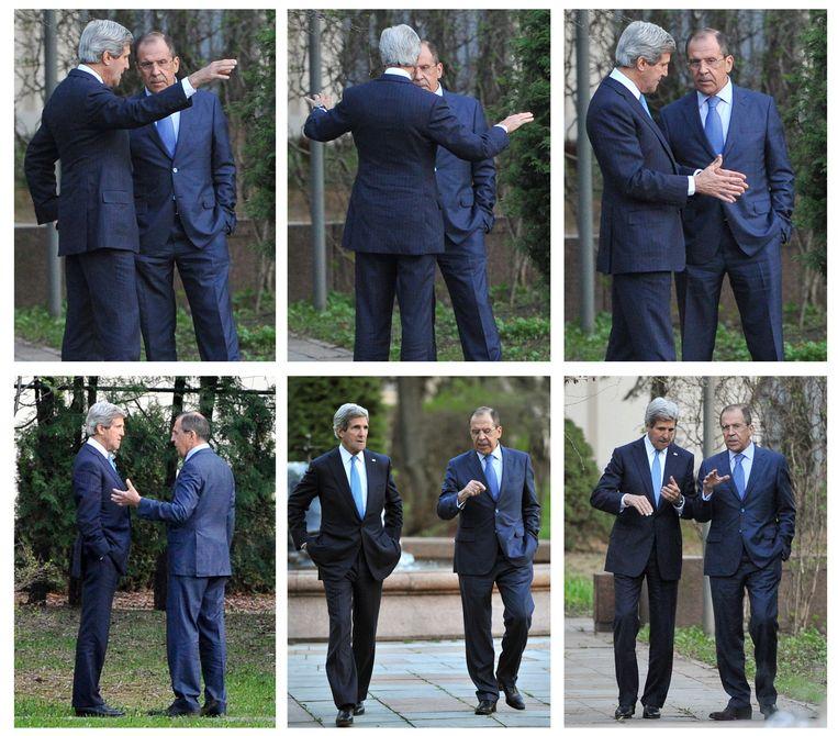 Kerry en Lavrov in zes foto's Beeld AP