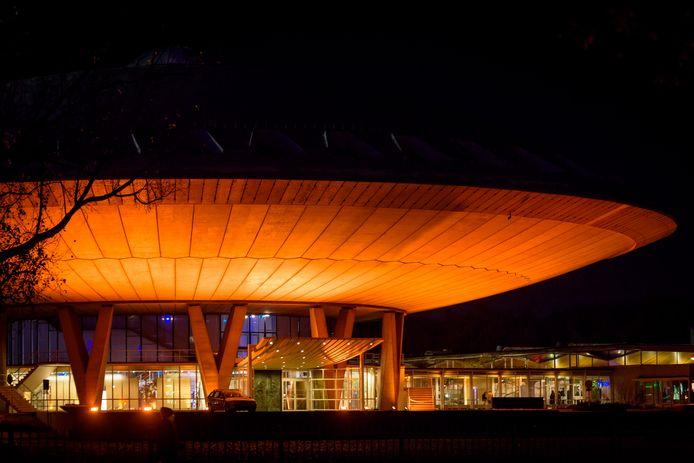 Het Evoluon in Eindhoven, waar hoogstwaarschijnlijk het nieuwe futurelab wordt ondergebracht.