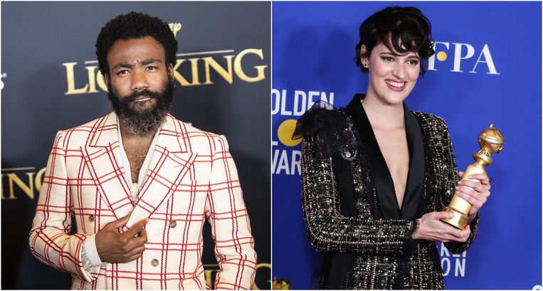 Donald Glover - Phoebe Waller-Bridge. Beeld EPA / Photo news