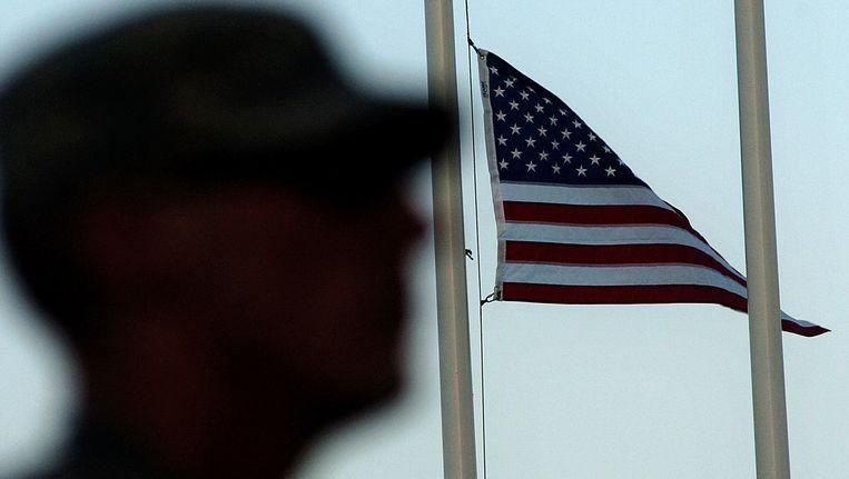 Een Amerikaanse soldaat in Afghanistan.