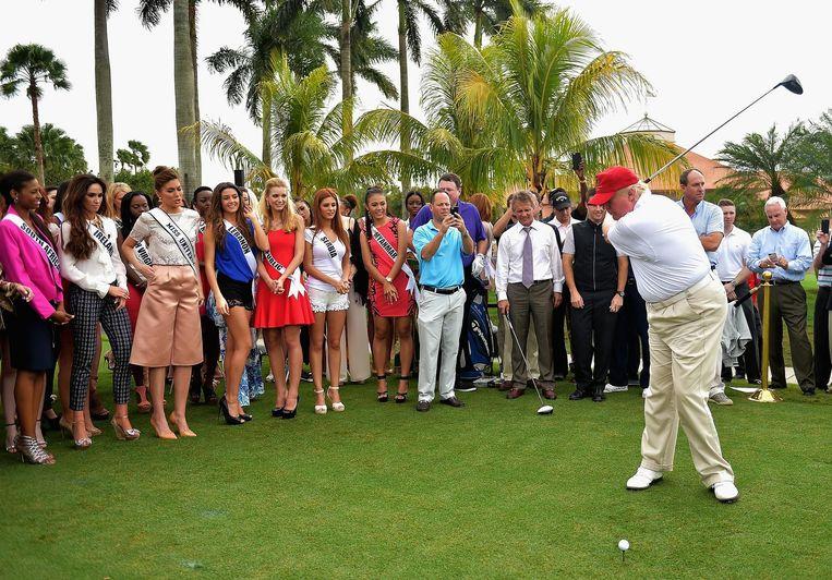 Trump opent het Red Tiger Golf Course op Trump National Doral, 2015. Beeld getty