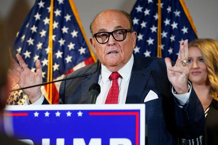 Rudy Giuliani, de voormalige persoonlijk advocaat van de vorige Amerikaanse president Donald Trump en ooit burgemeester van de stad New York.