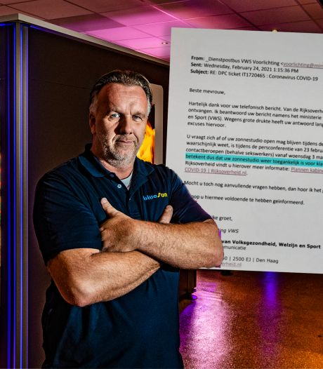 Woede bij zonnestudio's na foute mail van ministerie: zaak mag toch niet open