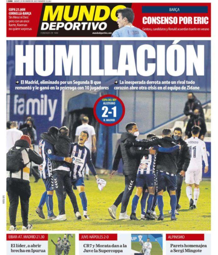 De Spaanse kranten waren niet mals voor Real en Zidane.
