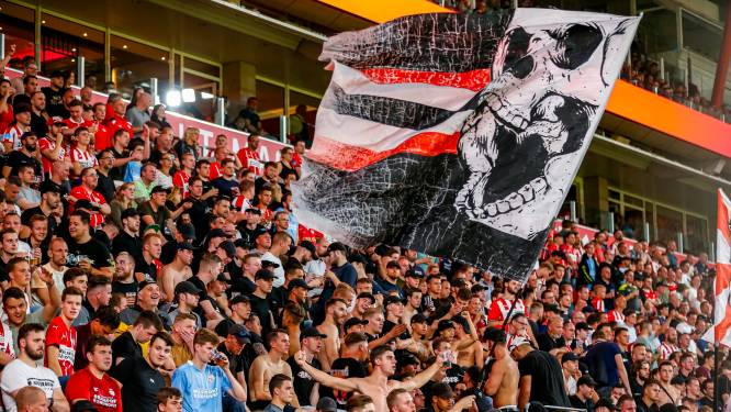 Groep PSV-supporters boycot de thuiswedstrijd tegen Sparta