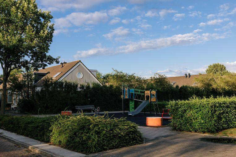 Parkje aan de Albert van Dalsumlaan waar de tiener werd mishandeld. Beeld Marc Driessen