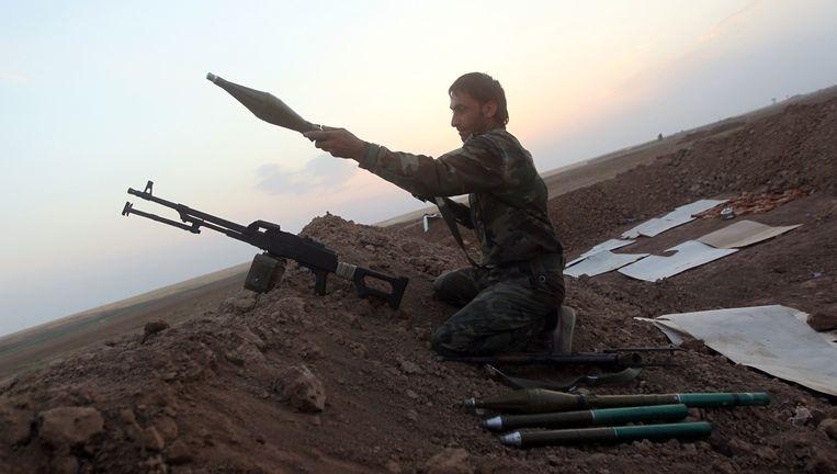 Archieffoto: vorig jaar heroverden rebellen een dam bij Mosul op IS Beeld afp