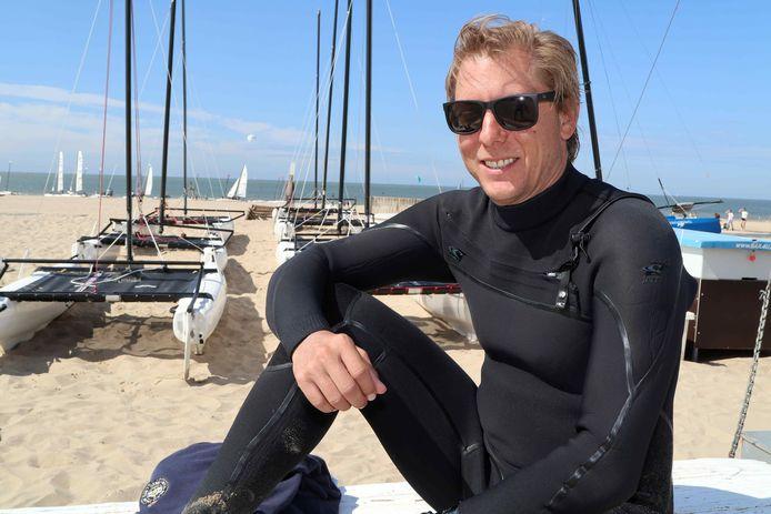 """Philippe Goldberg aan het strand in Knokke: """"Na een wereldtitel in 2018 en een Europese titel in 2019 zou een olympische titel de absolute kroon op het werk zijn."""""""