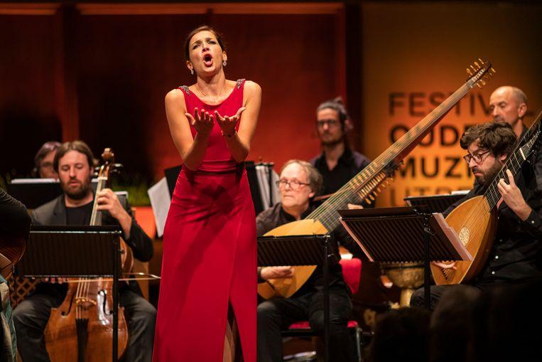 Mezzosopraan Giuseppina Bridelli tijdens het Festival Oude Muziek in 2019. Beeld Marieke Wijntjes