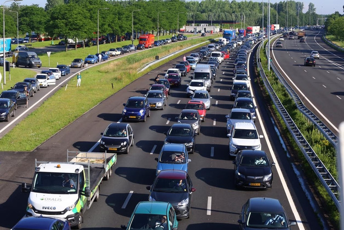 Twee rijbanen dicht door het ongeval ter hoogte van Liempde.