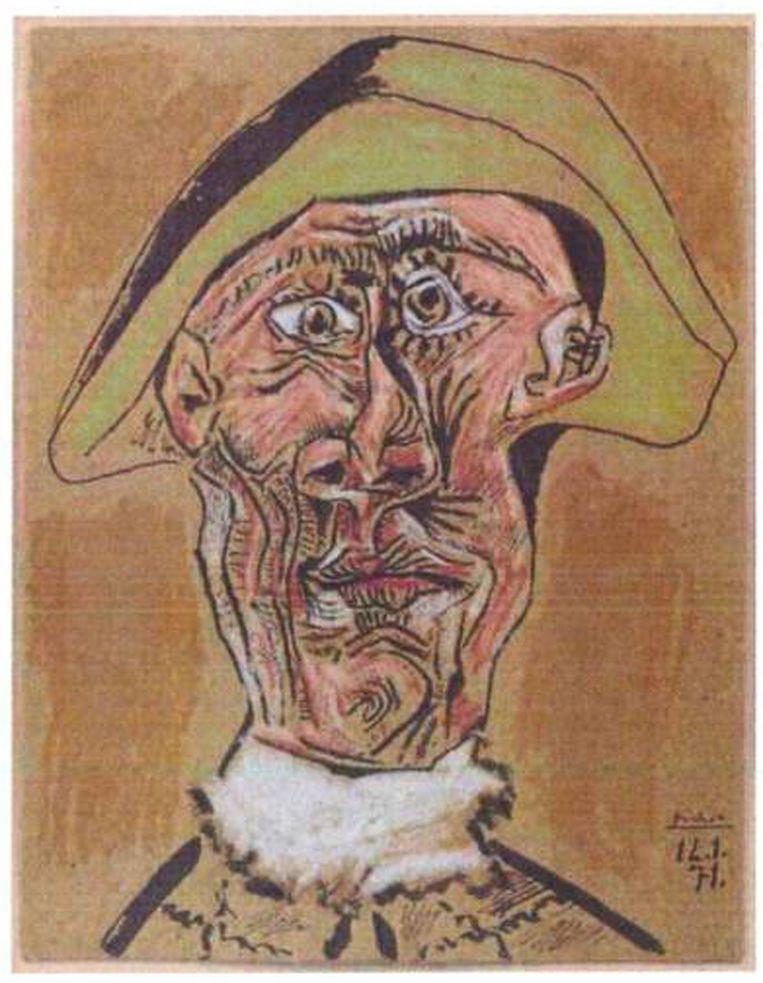 Pablo Picasso: 'Tête d'Arlequin' (1971)<br /><br /><strong>De schilderijen die vorig jaar uit de Kunsthal in Rotterdam zijn gestolen, zijn hoogstwaarschijnlijk allemaal verbrand. Het gaat om zeven schilderijen met een geschatte waarde van 18 miljoen euro van onder anderen Monet, Matisse, Picasso en Gauguin. De kunstwerken zijn verbrand in de de woning van de moeder van hoofdverdachte Radu Dogaru in het Roemeense dorpje Carcaliu</strong> Beeld AFP