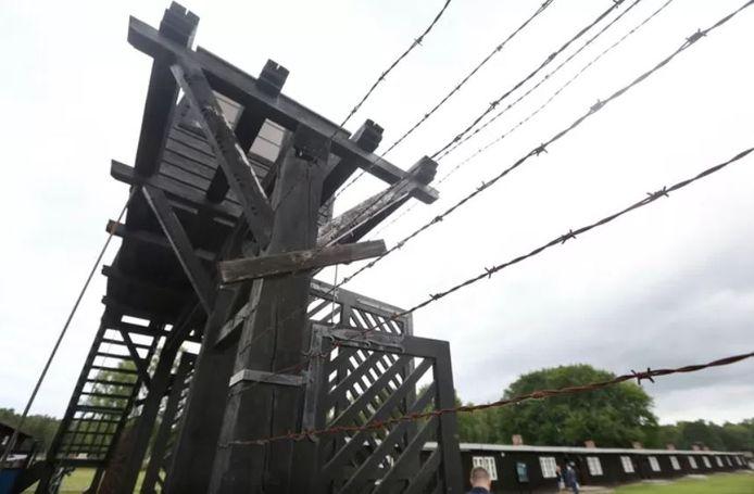 Een wachttoren van naziconcentratiekamp Stutthof.
