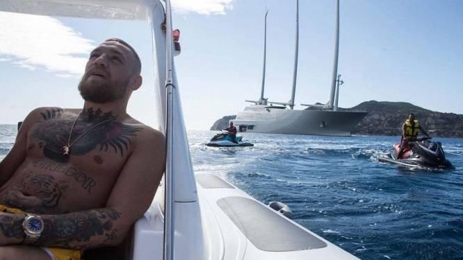 """Conor McGregor van melk door Russisch superjacht: """"Ik ben nog niet echt rijk"""""""