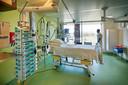 Een 'coronakamer' in ziekenhuis Bernhoven in Uden.